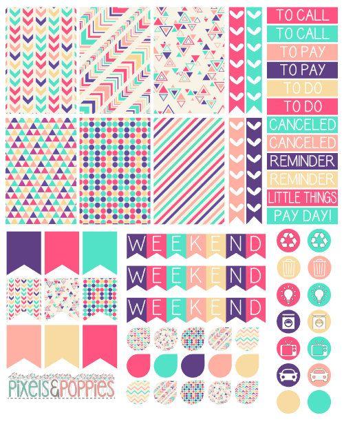 73 Aztec Theme Stickers Planner Stickers by PixelsAndPoppiesShop