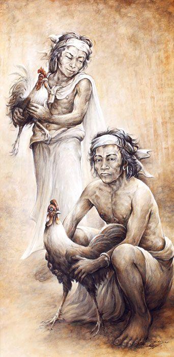 I Nyoman Ridi (Penestanan, Bali, 1945) - Tajen