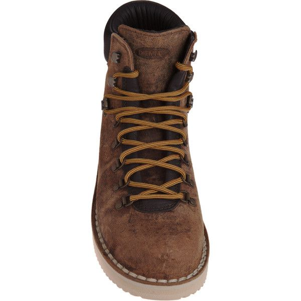 Diemme Hiking Boot ($249) ❤ liked on Polyvore featuring men's fashion, men's shoes, men's boots, mens suede shoes, mens round toe shoes, mens round toe cowboy boots and mens suede boots