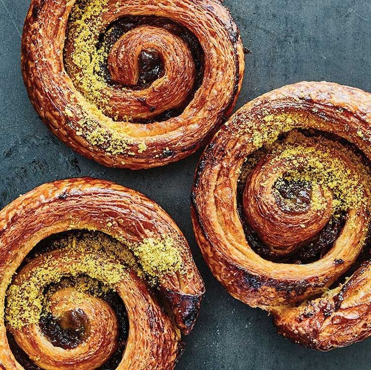 """SAVEUR magazine on Instagram: """"Good morning from our favorite sour cherry and pistachio danishes 🌞 Make them at the link in our bio. 📸: @chwhat #eattheworld"""""""