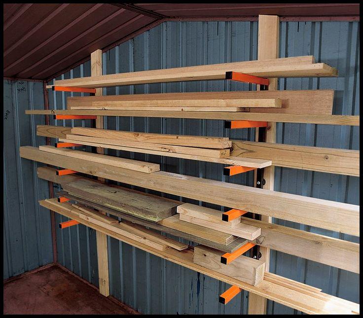 Awesome Lumber Storage Rack Portamate Six Level Wall Mount Wood .