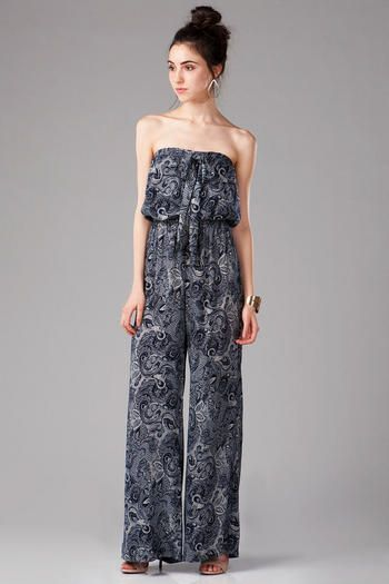 Patterned jumpsuits are great for adding a little bit of excitement to your wardrobe.