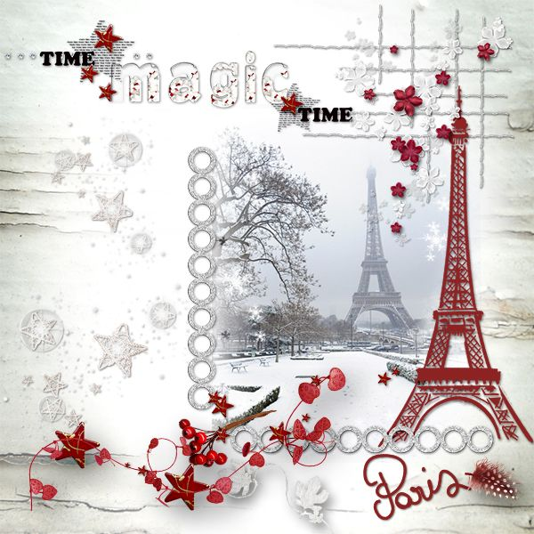 *Christmas white Paris* by Lalie Designs   http://www.bazarascrap.fr/…/…/628-christmas-white-paris.html