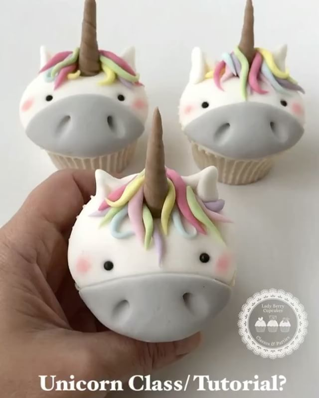 """7,408 Likes, 246 Comments - Keyk (@keyk.de) on Instagram: """"Unicorn Love! Cutest cupcakes by @ladyberrycupcakes - she takes orders ✨  #cupcakes #unicorn…"""""""