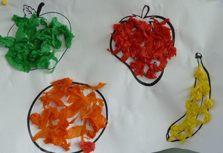 Scheuren en plakken met kleur