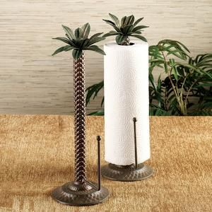 palm kitchen decor | Palm Tree Paper Towel Holder