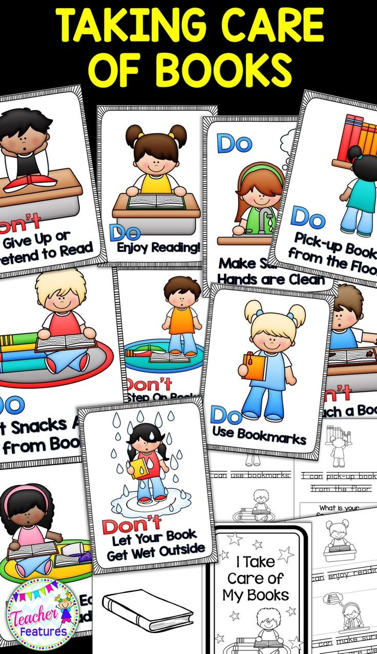 Have you ever seen library books or take-home books come back to school looking like they had been in a food fight? Start the school year off in the right direction by teaching how to take care of books with - 14 posters and an interactive booklet.