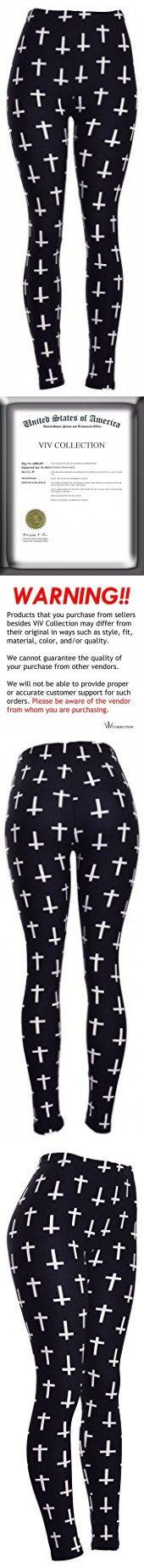 PLUS SIZE Printed Leggings (Mini White Crosses on Black)