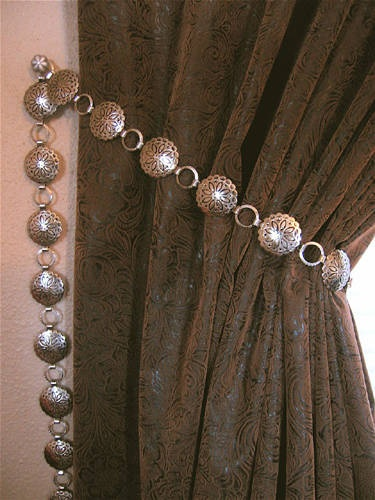 Southwestern Curtain Tiebacks