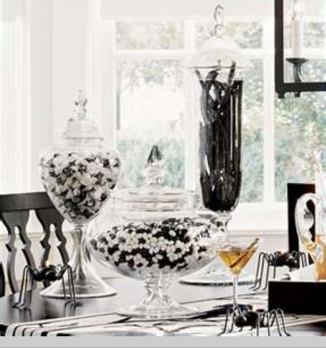 151 best B+W Home Decor images on Pinterest Home ideas, For the - elegant halloween decorations