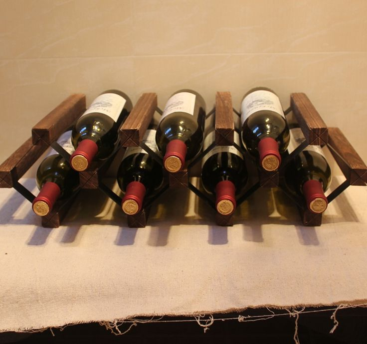 Paulownia Wood Wine Rack with Lacquer DIY Assembled 7 Bottle Japanese Style Wine Holder Display Suitable for Home, Hotel and Bar