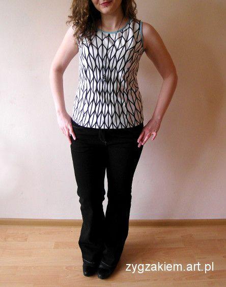Blouse with slimming pattern, ikea cotton. Bluzka z modelującym wzorem.