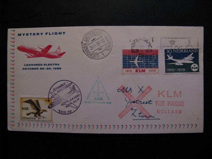 Special flight KLM cover: Mystery Flight Istanbul - Amsterdam, 29-10-959...