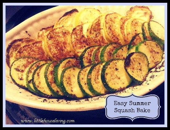 How to make a simple and delicious Summer Squash Bake. Perfect for summer veggies!