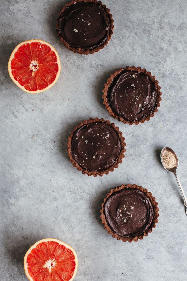 chocolate tahini tarts with grapefruit // my name is yeh