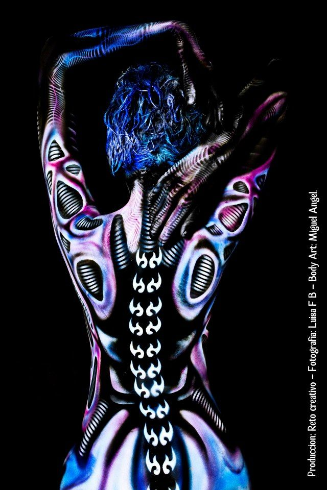 'Biomechanical' - Miguel Angel - Body Painter, Colombia