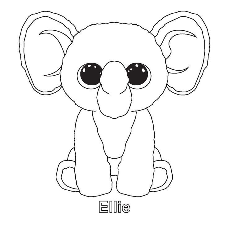fiona beanie boo colouring pages