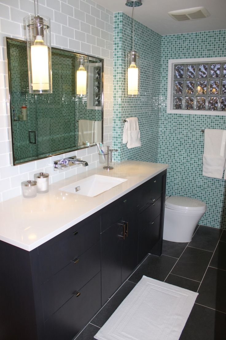 25 best tub surround ideas images on pinterest small for Custom master bath