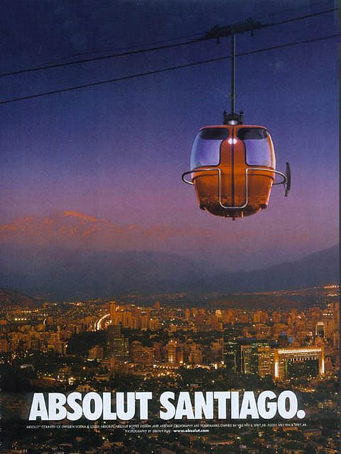 Absolut Santiago, Chile -- Cable Car over the City