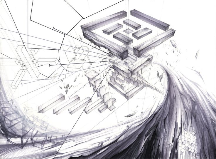 Architecture Compositional Drawing 02 by RoboNATION.deviantart.com on @deviantART