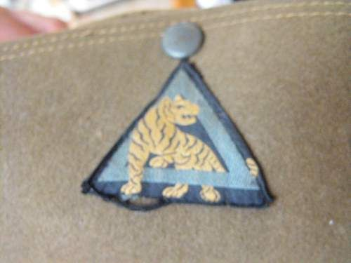 WW2 south african made slouch hat 26th Indian div.