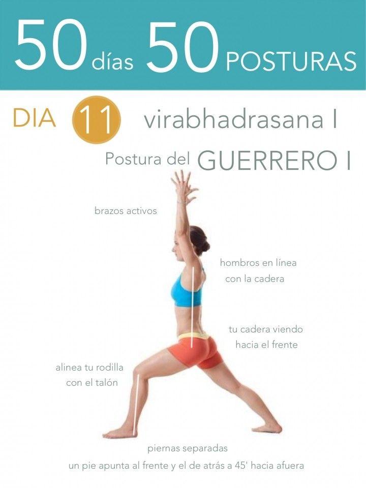 50 días 50 posturas. Día 11. Postura del Guerrero I                                                                                                                                                                                 Más