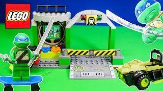 Смотреть онлайн видео TEENAGE MUTANT NINJA TURTLES Nickelodeon TMNT Lego Junior Set a TMNT Video Toy Review