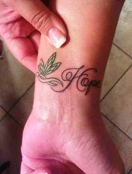 Dragonfly with lung cancer ribbon as the body and the for Lung cancer tattoo