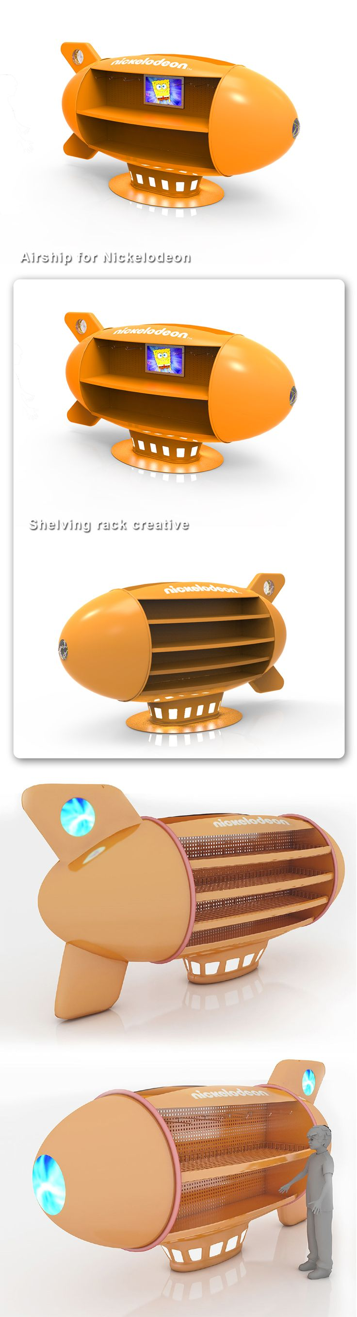 POSM Design Shelving Nickelodeon