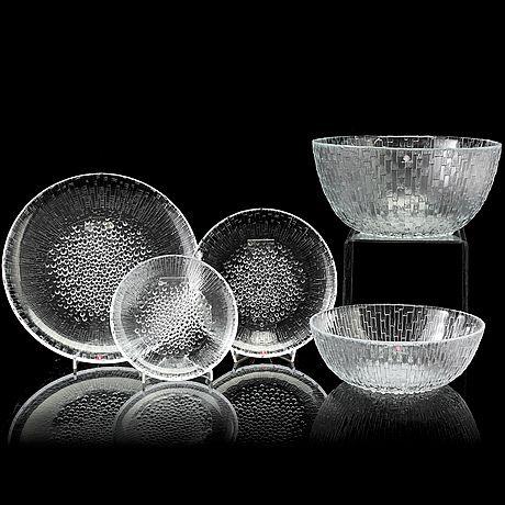 "TAPIO WIRKKALA - Glassware ""Ultima Thule"" series for Iittala, Finland."
