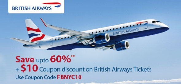 Book British Airways flights tickets on Fare Buzz. Find British Airways flight deals & promotions on British Airways flight to top cities. Whether traveling for business or leisure, Fare buzz brings exclusive British Airways airlines online reservations deals.