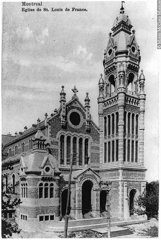 Former St. Louis de France Church, Roy street, Montreal. Built in 1910. Building is demolished