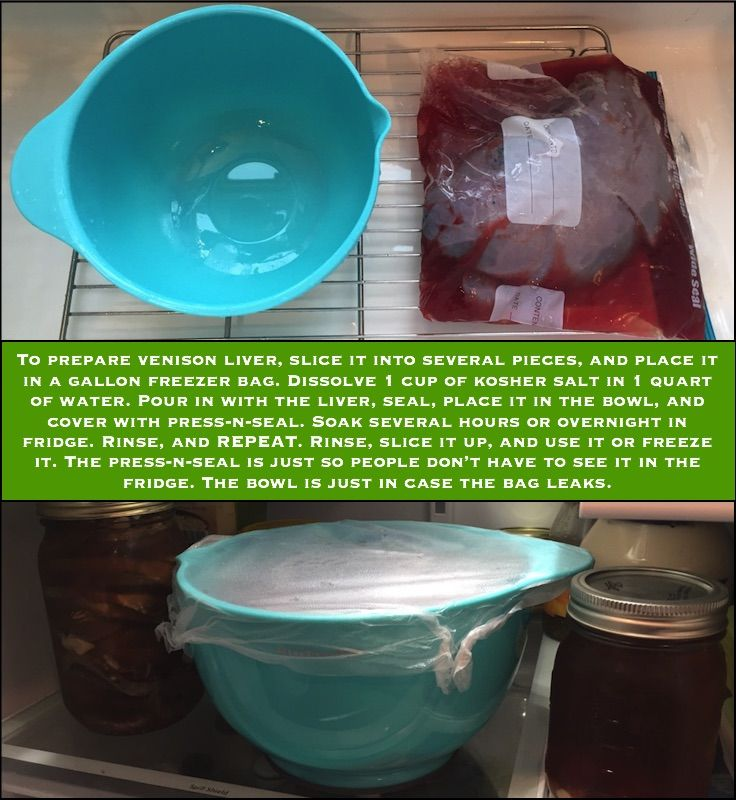 How to clean deer liver: You want to remove as much blood from the liver as you can - it gives the liver a metallic taste.