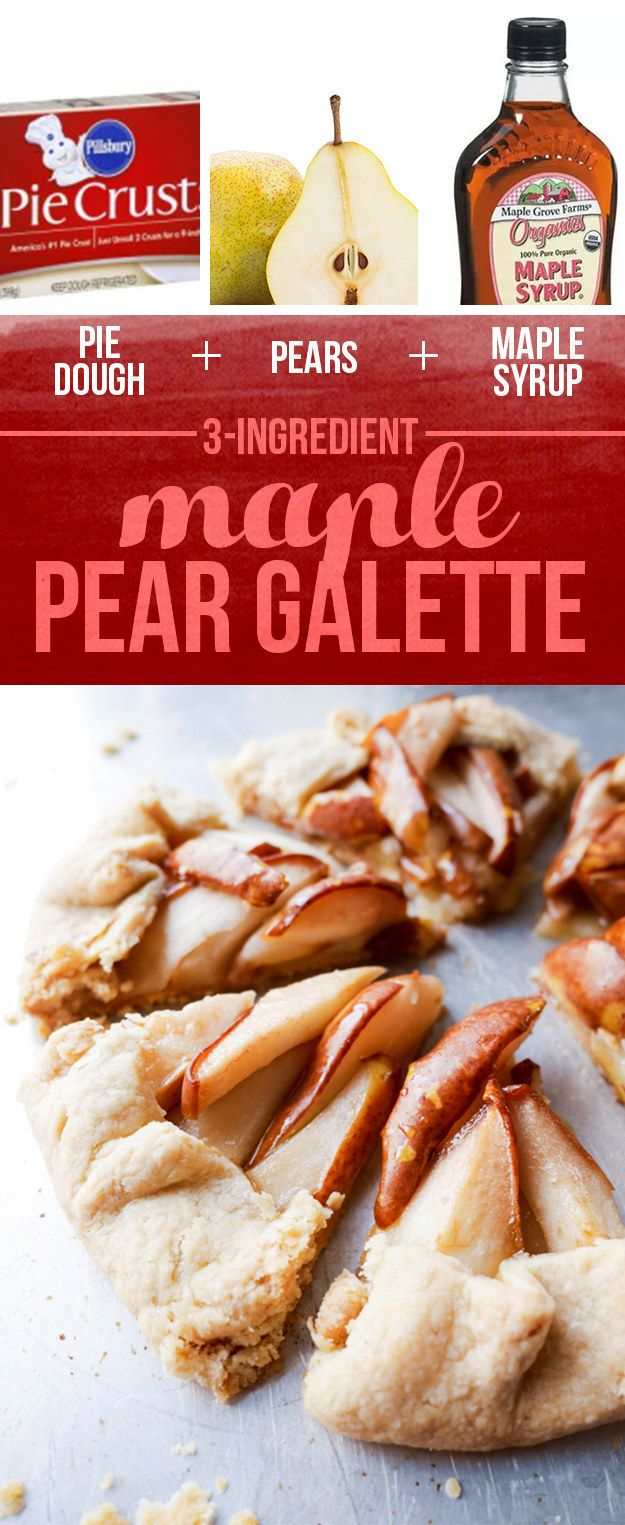 Pie Dough + Pears + Maple Syrup = Maple Pear Galette