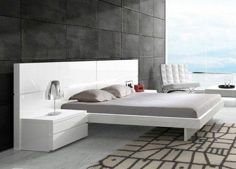 chambre minimaliste idées reçues modernes lit rembourré noir
