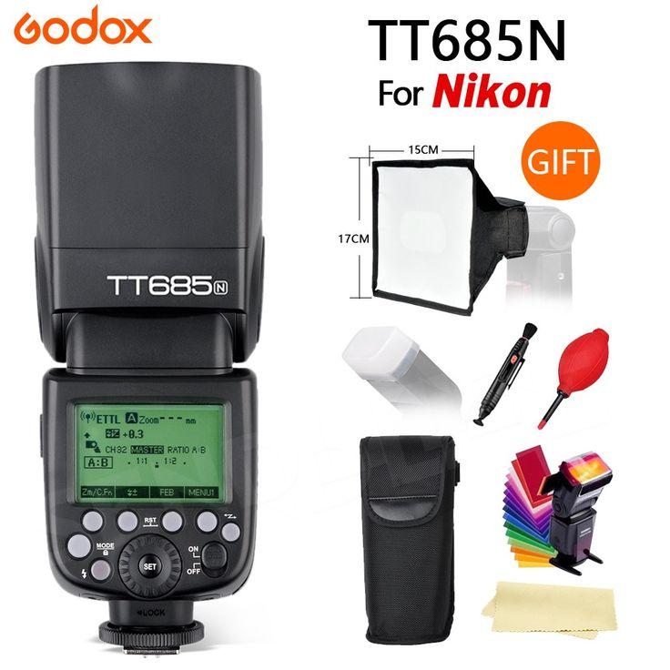 Buy online US $119.00  Godox TT685 1/8000s High Speed Camera Flash speedlite GN60 TTL for Nikon DSLR Cameras +free gifts and shipping  #Godox #High #Speed #Camera #Flash #speedlite #Nikon #DSLR #Cameras #+free #gifts #shipping  #CyberMonday