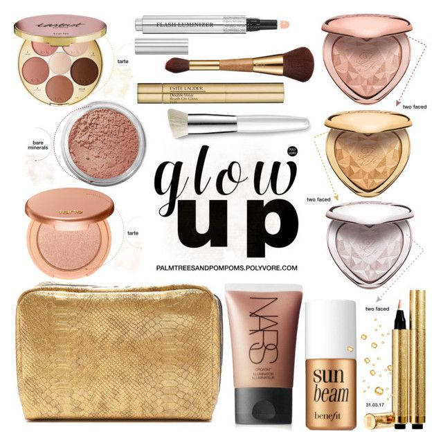 """Glow Up: Glam Highlighters"" by palmtreesandpompoms ❤ liked on Polyvore featuring beauty, Bare Escentuals, Christian Dior, Benefit, LeSportsac, Yves Saint Laurent, NARS Cosmetics, tarte, Estée Lauder and Trish McEvoy"