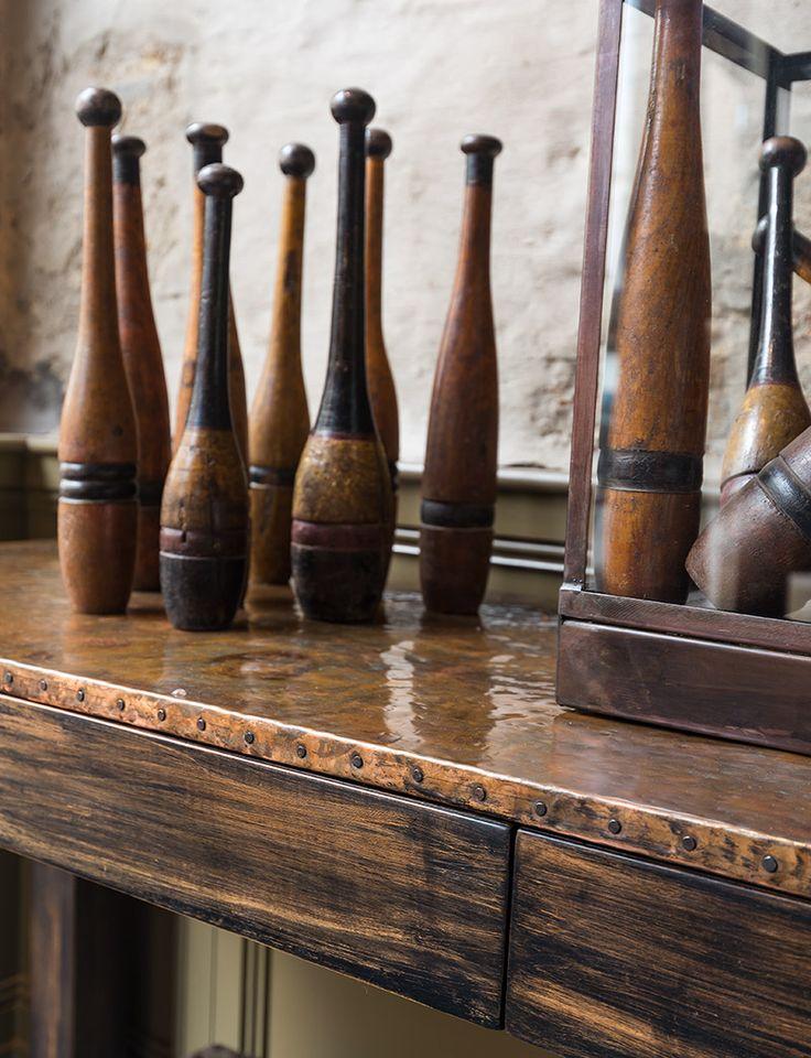 Authentieke houten kegels - Unieke decoratiestukken met karakter - Authentic wooden pins - Unique decorating - #WoonTheater