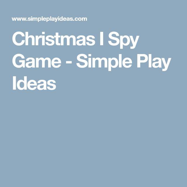 Christmas I Spy Game - Simple Play Ideas