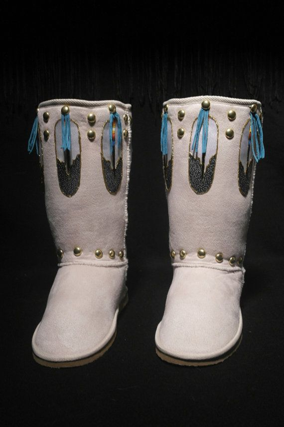 Native Boots by Rez Hoofz Size 10 by REZHOOFZ on Etsy, $89.95