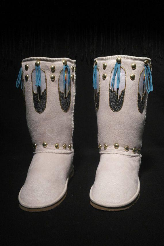 Native Boots by Rez Hoofz Size 10 by REZHOOFZ on Etsy, $89.95