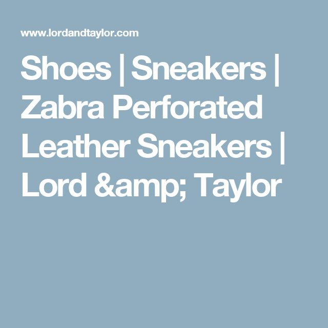 Shoes | Sneakers  | Zabra Perforated Leather Sneakers | Lord & Taylor