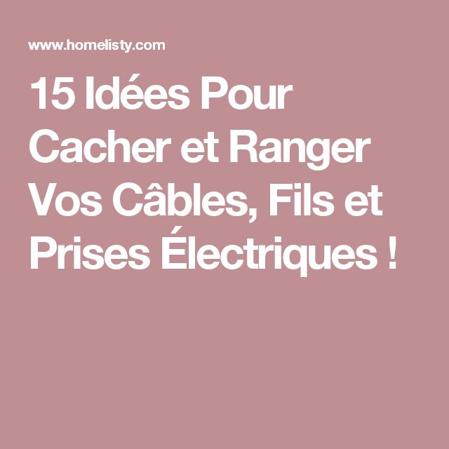 cacher fils electriques mur maison design. Black Bedroom Furniture Sets. Home Design Ideas