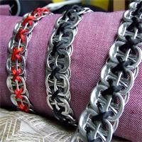 Bracelet en capsules de canette Création bijoux fantaisie