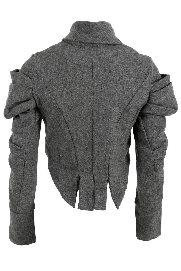 Religion Ladies Grey Woolen Womens Victorian Rouched Sleeve Jacket Size 8 14 UK | eBay