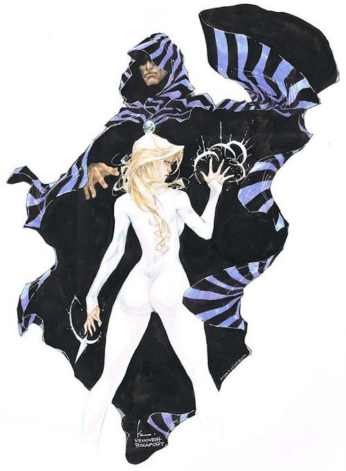 The original Marvel Runaways, Cloak & Dagger (debuted in Peter Parker, Spectacular Spiderman #64) -art by  Kenneth Rocafort