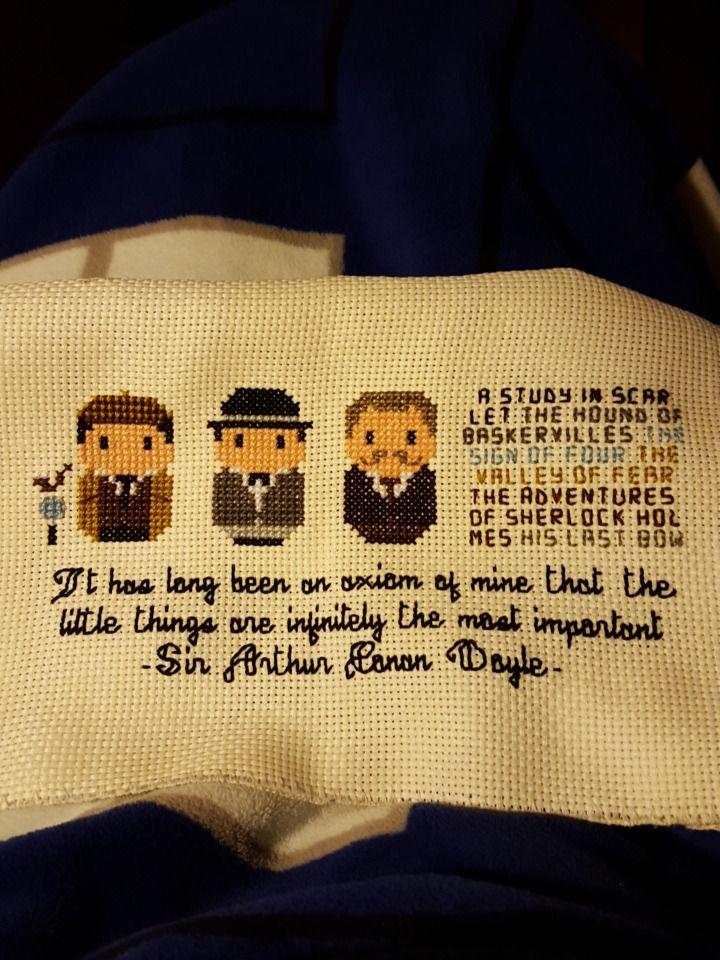 "onlymetoday: "" My Sherlock cross stitch """