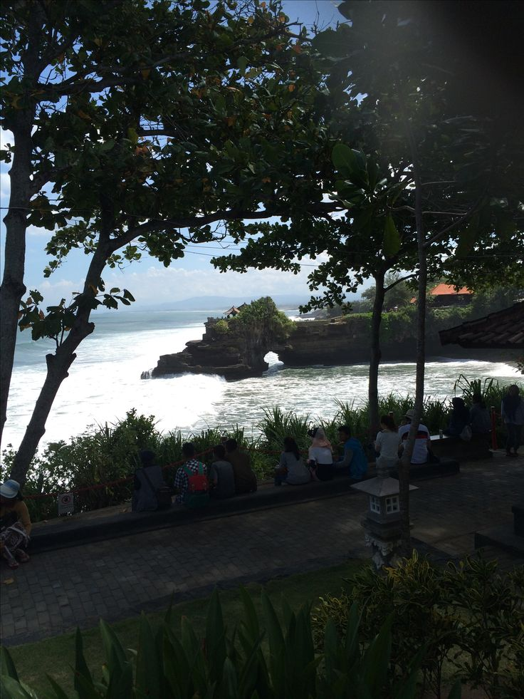Rock formation in ocean @ Tanah lot area