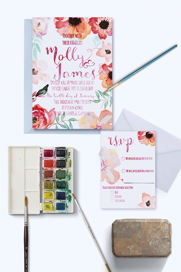 Insanely pretty watercolor wedding stationery from @lovelittlepaper. #wcriseandshine