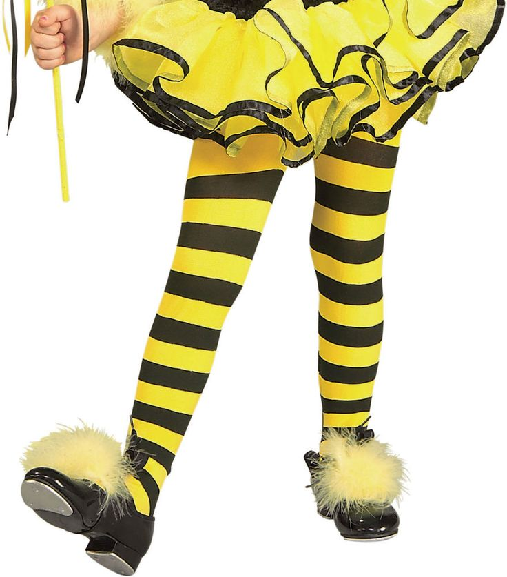 Toddler Bumble Bee Tights yellow black stripe infant child insect baby kid girl #Rubies #Tights